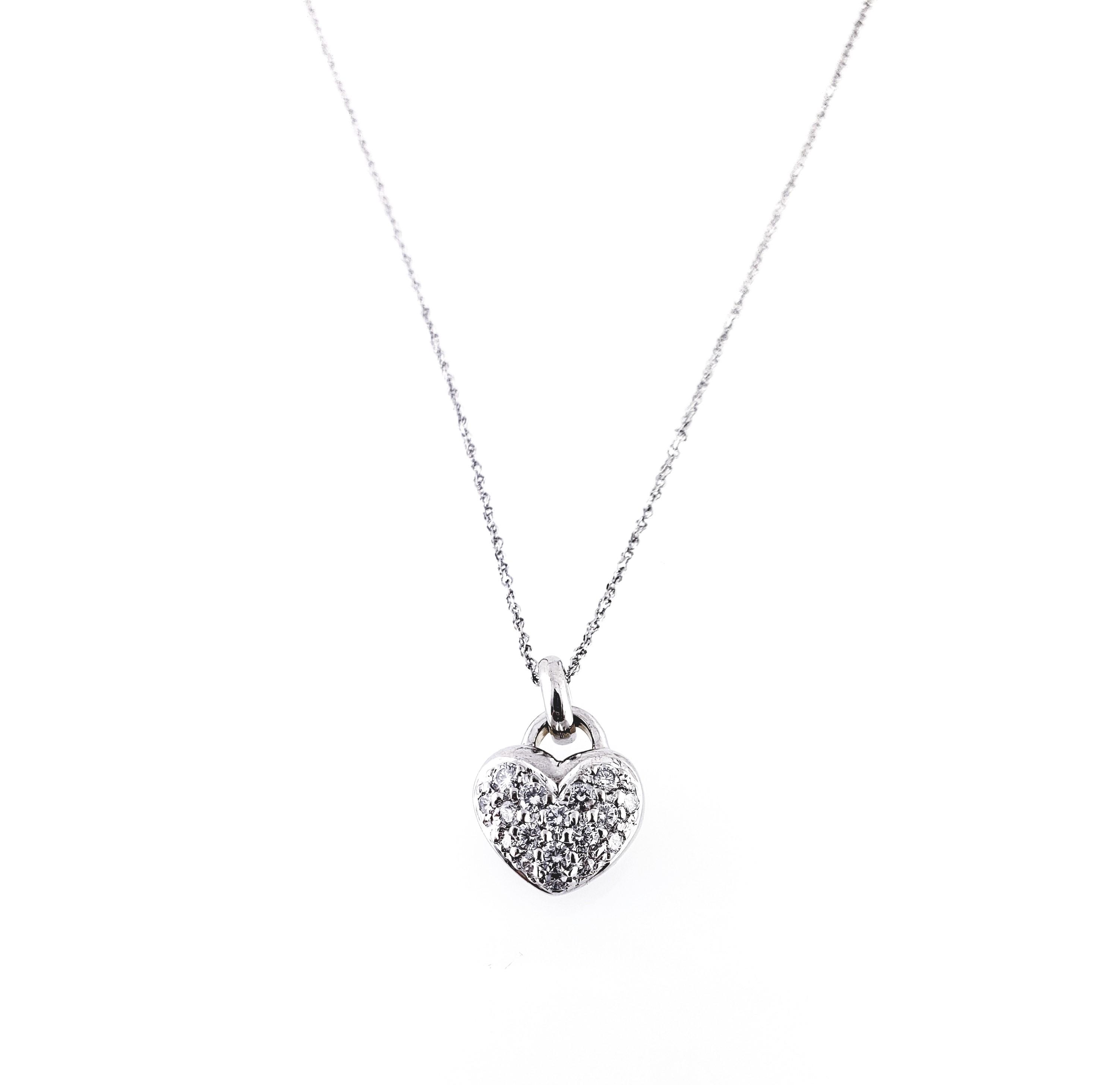 5d00ebda3ab4f Necklace - Heart Puff Charm Diamond