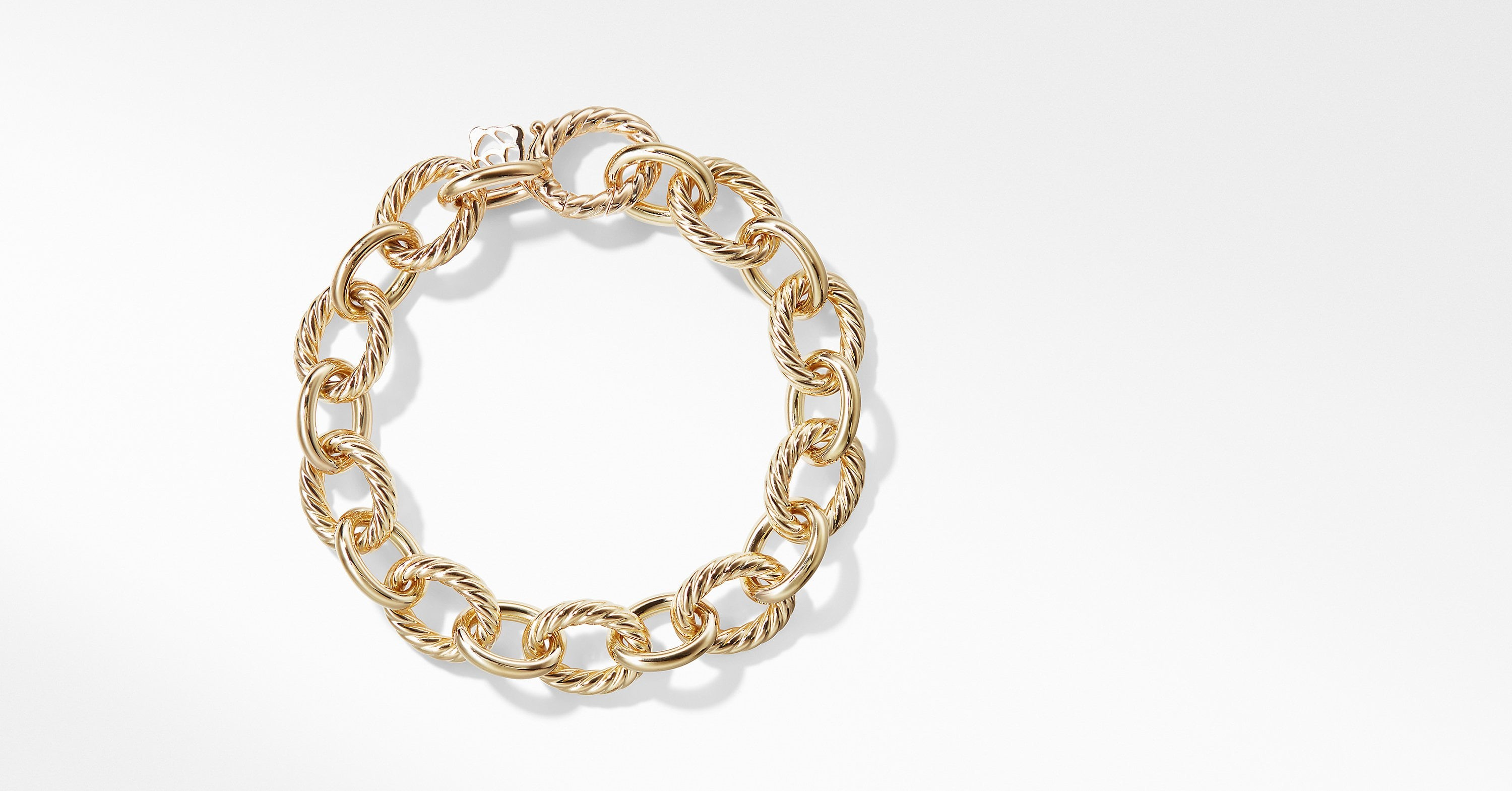 670913984 Home / Necklaces / Precious Metals / David Yurman Large Oval Link Bracelet  in 18k Gold